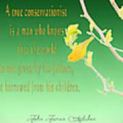 Audubon Warbler Quote Poster
