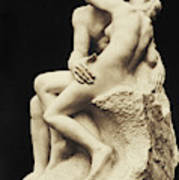Auguste Rodin The Kiss, 1886 Marble Sculpture Poster