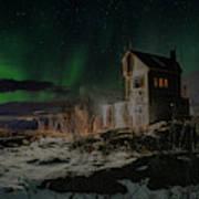 Aurora Borealis Over Harstad Poster