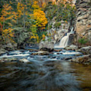 Autumn At Linville Falls - Linville Gorge Blue Ridge Parkway Poster