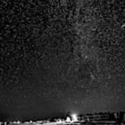 Autumn Night - Sauble Beach - Two Galaxies Bw Poster