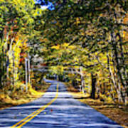 Autumn Paved Poster
