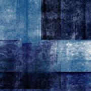 Azul Blocks 1- Art by Linda Woods Poster