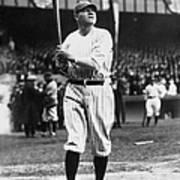 Babe Ruth Batting For Ny Yankees Poster