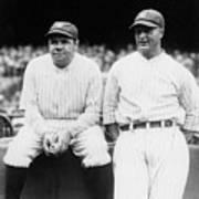 Babe Ruth Lou Gehrig Yankee Stadium Poster