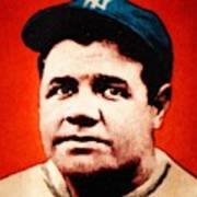 Babe Ruth, Portrait Poster