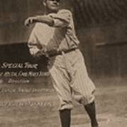 Babe Ruth Special Tour Postcard Poster