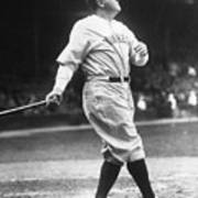 Babe Ruth Watches One Fly Poster