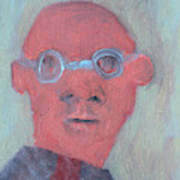 Bald Man In Glasses Poster