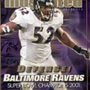 Baltimore Ravens Ray Lewis, Super Bowl Xxxv Sports Illustrated Cover Poster