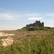 Bamburgh Castle And Beach In Summer Poster