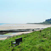 Bamburgh Castle And Beach Poster