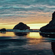 Bandon Beach Sunset 2 Poster