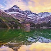 Banff Lake Ohara Sunrise Reflection Poster