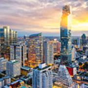 Bangkok City At Sunset, Mahanakorn Poster