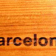 Barcelona Text Poster