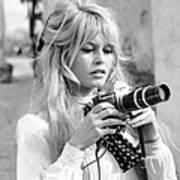 Bardot During Viva Maria Shoot Poster