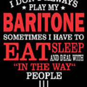 Baritone Players Funny Statement Gift Poster