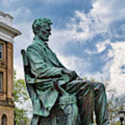 Bascom Hall Lincoln Statue Poster