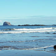 Bass Rock And Beach At North Berwick Poster