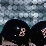 Batting Helmets Poster