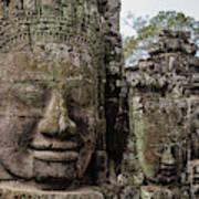 Bayon Faces, Angkor Wat, Cambodia Poster