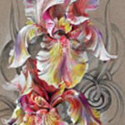 Beautiful Fantastic Realistic Flowers Poster