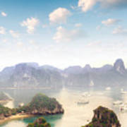 Beautiful Landscape Of Halong Bay In Poster