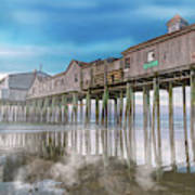 Beautiful Pier Maine Morning Poster