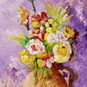 Beauty On Bouquet Poster