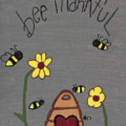 Bee Thankful Poster