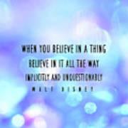 Believe Big Quote Poster