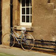 bicycle in Edinburgh close Poster