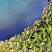 Big Bay Bear Lake Aerial Poster