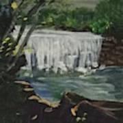 Big Waterfall Poster