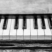 Black And White Piano Poster