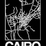 Black Map Of Cairo Poster