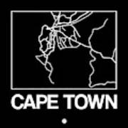 Black Map Of Cape Town Poster