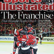 Blackhawks The Franchise That Brought Hockey Back Sports Illustrated Cover Poster