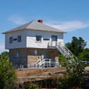 Blockhouse At Kingston Mills On The Rideau Canal Poster