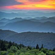 Blue Ridge Parkway Scenic Landscape Poster