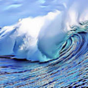 Blue Surf Poster