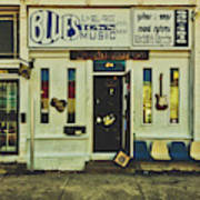 Blues Town Music Store Poster