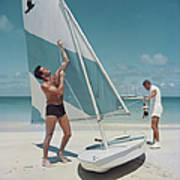 Boating In Antigua Poster