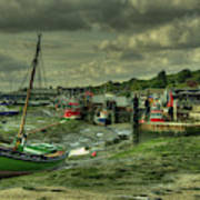 Boats At Leigh On Sea  Poster