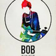 Bob Dylan Watercolor Poster