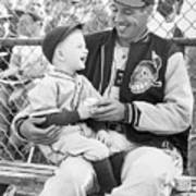 Bob Feller With Young Fan Poster
