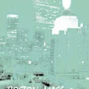 Boston Massachusetts Night Scene Digital Art Poster