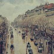 Boulevard Montmartre - Afternoon, In The Rain, 1897 Poster