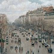Boulevard Montmartre - Afternoon, Sunlight, 1897 Poster